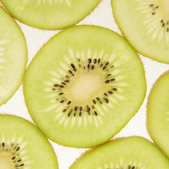 Slices of kiwi background
