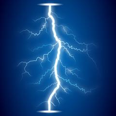 lightning on blue background