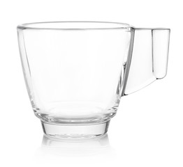 Glass coffee cup isolated on white