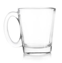 empty Glass coffee on white