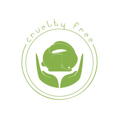 Animal cruelty free logo. Not tested on animals symbol