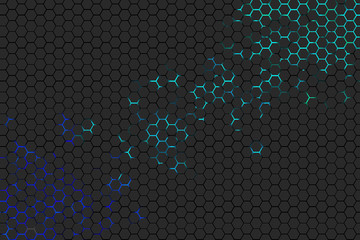 Cyber Honeycomb background