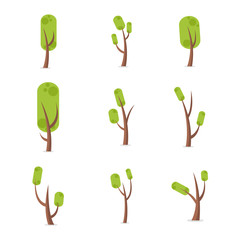 Set of tree vector illustration