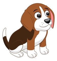 Cartoon puppy sitting