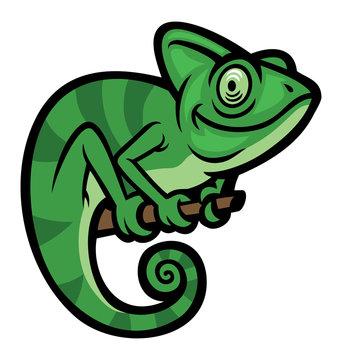 Smiling happy Chameleon