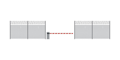 Metal fence and barrier