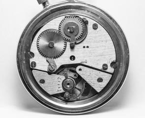 clockwork vintage mechanical watch, high resolution and detail