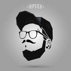 hipster punk wearing cap