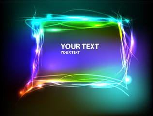 banner light text design
