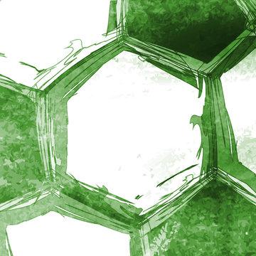 Football soccer ball easy all editable