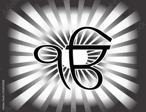 ek onkar black and white - photo #11