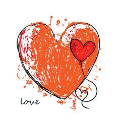 Illustration vector heart art.