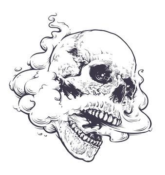 Vaping Skull Art