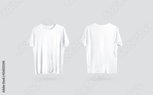 Blank white t shirt front and back side view design for White t shirt template front and back