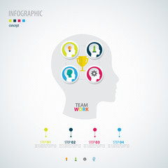 Infographic teamwork.  Business concept.