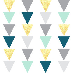 Triangles seamless pattern. Vector illustration.