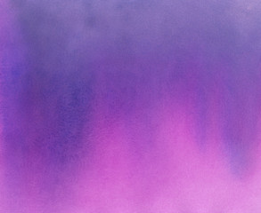Hand Painted Watercolor Background - Violet and Pink Ombre Gradient