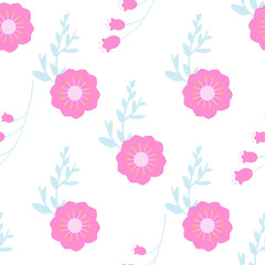 Floral seamless background.