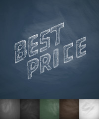 BEST PRICE icon. Hand drawn vector illustration