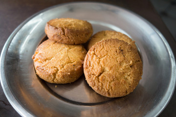 Osmania Biscuit is a popular snack in Hyderabad, Telangana.It is named after the last ruler of Hyderabad State, Mir Osman Ali Khan.