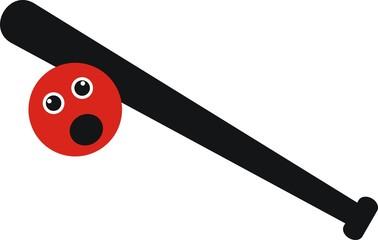 Design baseball bat with the ball.