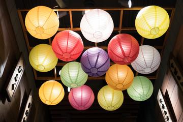 Japanese paper lantern decoration