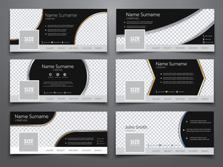 set the size of 851x314 pixels black  banners for the social net