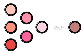 Stylish cosmetics presentation of blush
