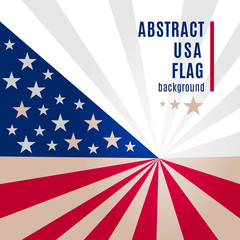 Abstract american flag background with place for your text. Vector illustration