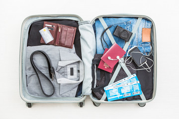 travel traveler traveling bag top open concepts
