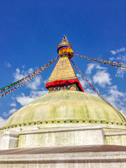 Boudhanath stupa in Kathmandu is openly for visitors to visit.