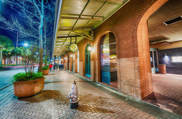 New Orlean streets at night