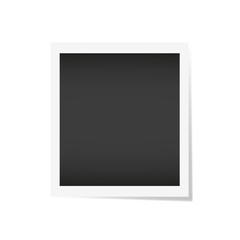 Photo frame with shadow on isolate background, vector EPS10