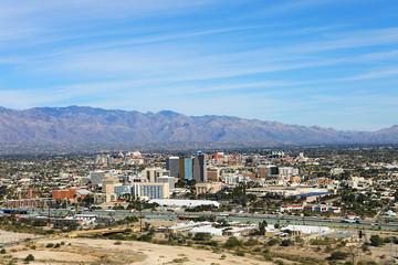 Aerial view of Tucson, Arizona