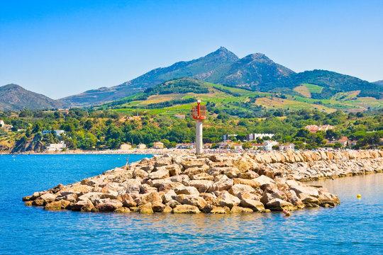 Port Argeles-sur-Mer in Pyrenees-Orientales department
