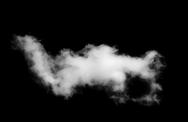 white clouds on black