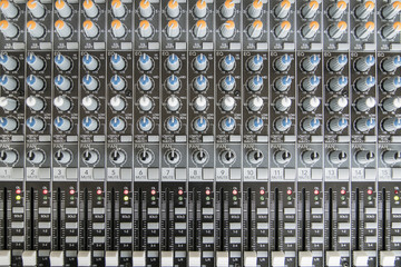 sound mixer control panel. Sound controller Recording Studio. mu