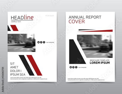 vector corporate identity brochure design flyer template modern leaflet