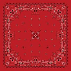 Red Bandan Print