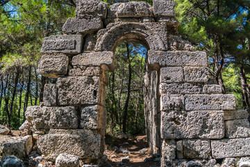 ruins of an ancient city Phaselis in Turkey