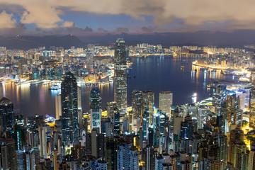 Hong Kong cityscape at morning