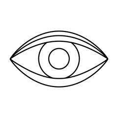 eye human sign isolated icon vector illustration design