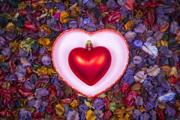 art background of Valentine Day, vintage filter image