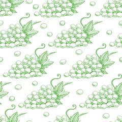seamless green grapes