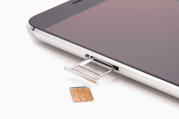 Replacing the SIM card in the phone
