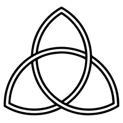 Religious sign. Christianity. Triquetra. Vector Format.