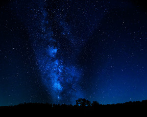 Night Sky with the Milky Way and stars