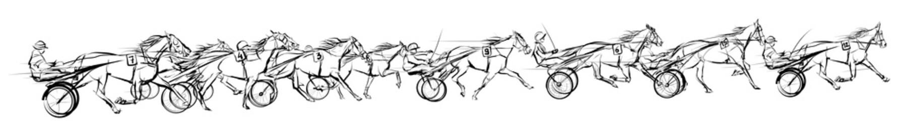 Canvas Prints Art Studio Horse carriage racing