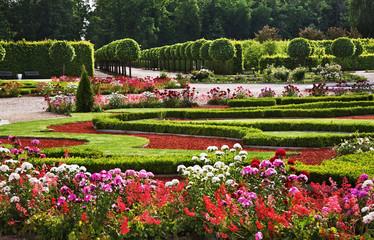 Park of Rundale Palace near Pilsrundale. Latvia