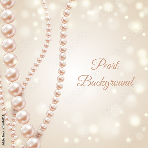 """Abstract blurred background with pearl necklace, vector ..."